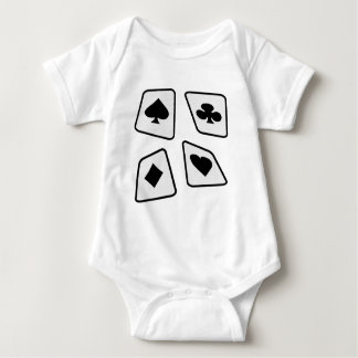 Crazy Cards - B&W Baby Bodysuit