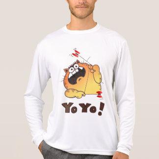 Crazy Cartoon Cat T Shirt | Cartoon Cat Yo-Yo Tee