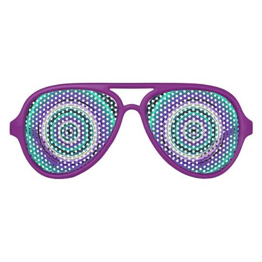 Crazy Cartoon Spiral Festive Party Glasses