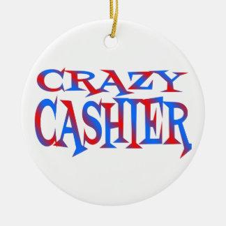 Crazy Cashier Christmas Ornament