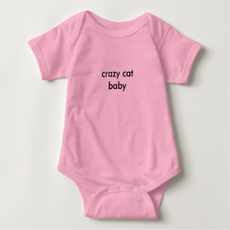 crazy cat baby baby bodysuit