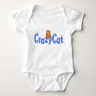 Crazy Cat Blue Text  -  Baby T-shirt