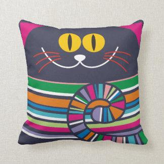 Crazy cat cushion