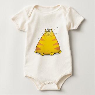Crazy Cat Funny Organic Baby Creeper Bodysuit