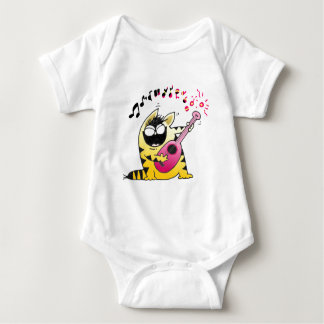Crazy Cat Guitarist Baby Bodysuit
