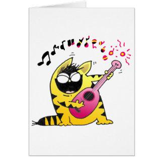 Crazy Cat Guitarist Cards
