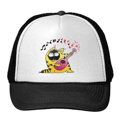 Crazy Cat Guitarist Hat