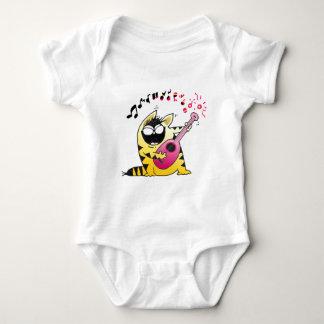 Crazy Cat Guitarist Infant Creeper