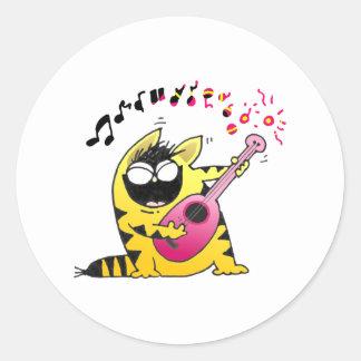 Crazy Cat Guitarist Stickers
