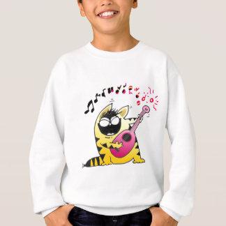 Crazy Cat Guitarist Sweatshirt