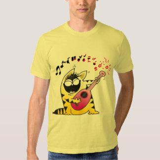 Crazy Cat Guitarist T-Shirt