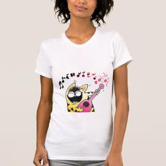 Crazy Cat Guitarist T Shirt