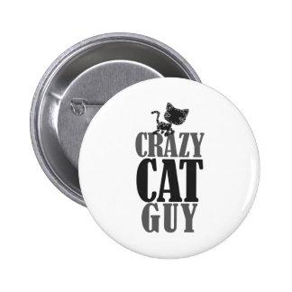 Crazy Cat Guy 6 Cm Round Badge