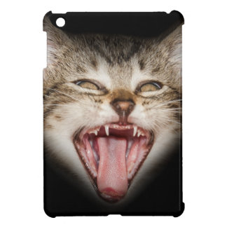 Crazy Cat Kitten Face iPad Mini Cover