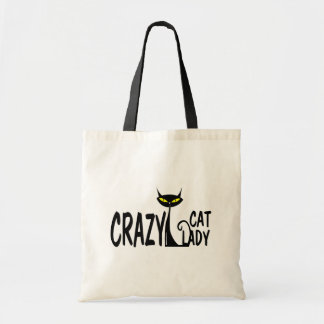 Crazy Cat Lady Budget Tote Bag