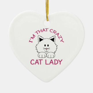 CRAZY CAT LADY CHRISTMAS ORNAMENT