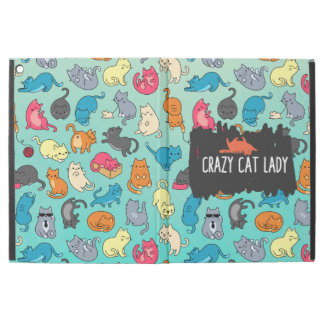 "Crazy Cat Lady Cute and Playful Cat Pattern iPad Pro 12.9"" Case"