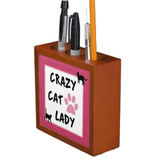 Crazy Cat Lady Desk Organizer