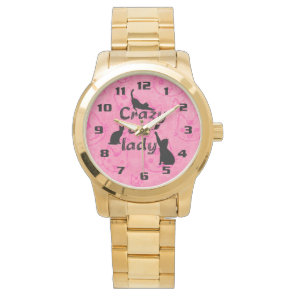 Crazy Cat Lady Fun Funny and Cool Playful Cats Watch