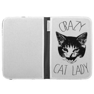 Crazy Cat Lady, Funny Kitten Face Kindle Keyboard Case