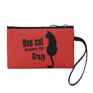 Crazy Cat Lady Funny Meow Wristlets Cosmetic Bag
