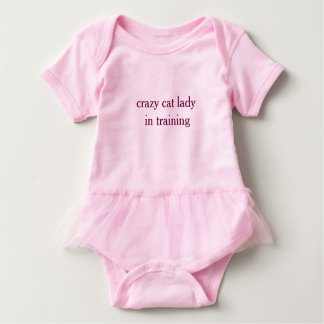 Crazy Cat Lady in Training- Baby Tutu Bodyuit Baby Bodysuit