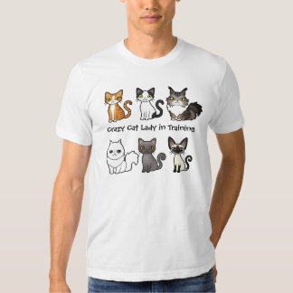 Crazy Cat Lady in Training (design your own cat) T Shirts