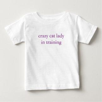 crazy cat lady in training kids tshirt cute!