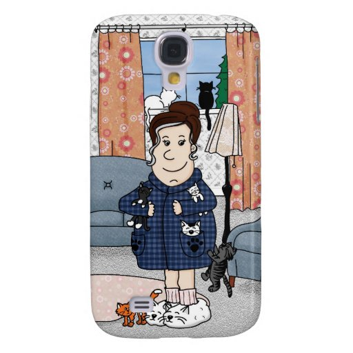 'Crazy Cat Lady' iPhone 3G Case Galaxy S4 Cases