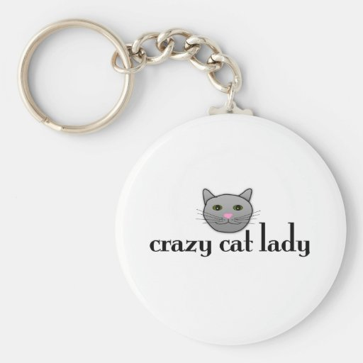 Crazy Cat Lady Key Chain