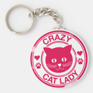 Crazy Cat Lady Key Ring