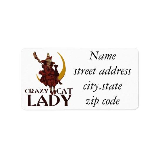 Crazy Cat Lady Label