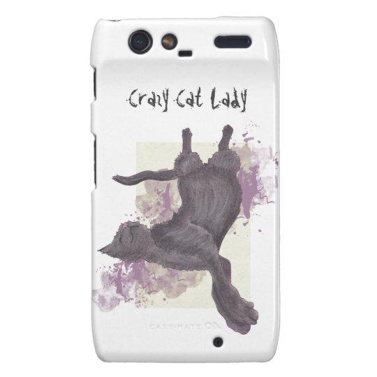Crazy Cat Lady Motorola Droid RAZR phone case
