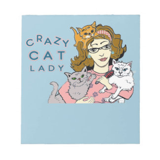 Crazy Cat Lady Notepad