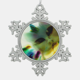 Crazy Cat Lady Pewter Snowflake Ornament