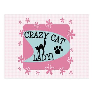 Crazy Cat Lady - Retro Post Card