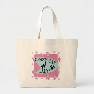 Crazy Cat Lady - Retro Canvas Bags