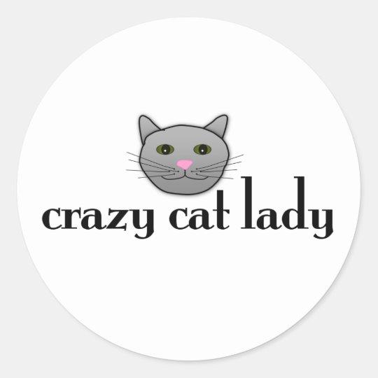 Crazy Cat Lady Round Sticker