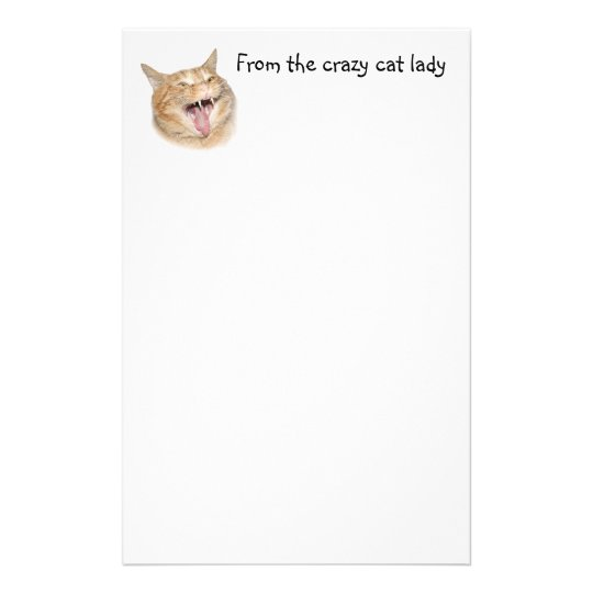 Crazy cat lady stationery