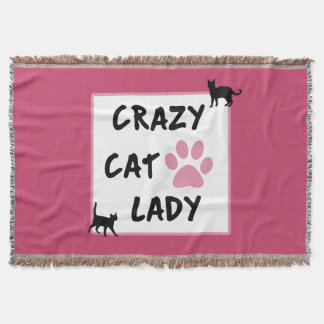 Crazy Cat Lady Throw Blanket