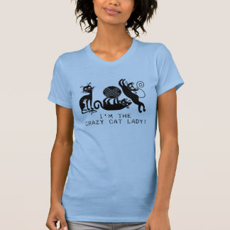 Crazy Cat Lady Tee Shirts