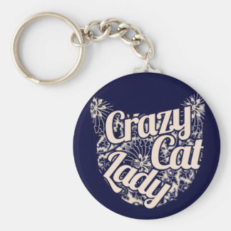Crazy Cat Lady Vintage Kitty Key Chains