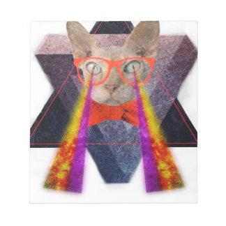 Crazy Cat Laser Beam Fantasy Notepad