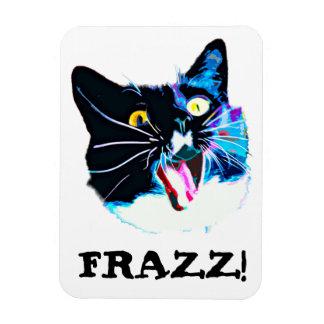 """Crazy Cat magnet, """"FRAZZ!"""" Magnet"""