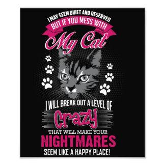 Crazy Cat Photo Print