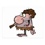 Crazy Caveman Post Card