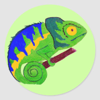 Crazy Chameleon Sticker