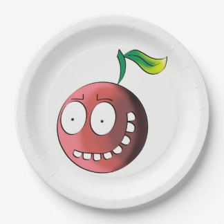 Crazy Cherry 9 Inch Paper Plate