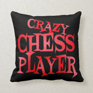 Crazy Chess Player in Red Cushion