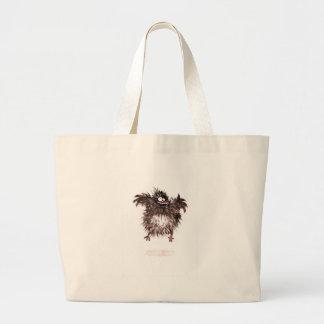 Crazy chicken canvas bag